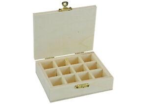 Kleine Sortimentsbox aus Holz - 12 Fach Sortierbox Box für Kleinteile - (B-Ware)