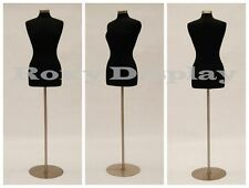 High Quality! Size 6-8 Female Mannequin Manikin Dress Form Jf-Fwp-Bk + Bs-04