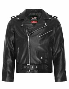 Mens Real Leather Brando Motorbike Motorcycle Classic Biker Jacket All Sizes New