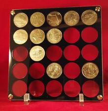 superbe présentoir pour médailles de la Monnaie de Paris