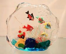 Fish tank aquarium  Murano Glass signed by the artist LAST ONE