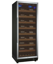 115 Bottle Single Zone Wine Cooler Refrigerator Stainless Steel Glass Door