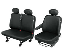 FORD Transit Custom  Kunstleder Sitzbezüge Sitzschoner Set Fahrersitz + Doppelba