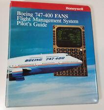Vintage Honeywell Boeing 747 400 FANS Flight Management Pilots Guide