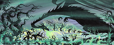 Eyvind Earle Sleeping Beauty Concept Painting Original Art Maleficent the Dragon