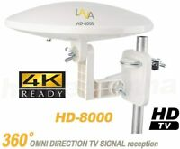 LAVA HD-8000, Omni-Directional HDTV Antenna, Outdoor, 4K Clear, Whole Home
