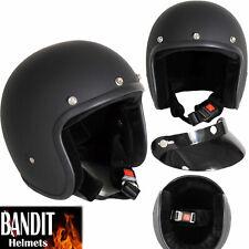 CASCO BANDIT ECE CLASSIC JET BIANCO S 55-56cm Casco Moto Roller metà guscio
