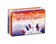 100 Light American Patriotic Mini Set Indoor/Outdoor Decoration
