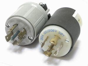 Assorted Brands NEMA L21-30P 120/208V 30 Amp 5W 4P Twist Lock Male Plug, single