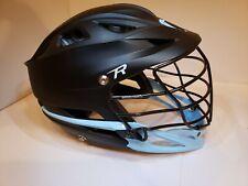 Pre-Owned Cascade CPV lacrosse helmet R-OSFM Black, Baby Blue Sz Medium