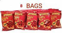 VITNER'S 8 Pack CRUNCHY KURLS SIZZLIN HOT CHEESE  A Chicago Original 1oz bags