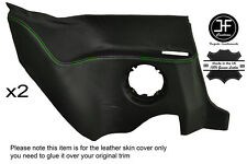 GREEN STITCHING 2X REAR LOWER PANEL LEATHER COVER FITS RENAULT ALPINE GTA V6