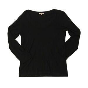 Laura Ashley Womens Black Fine Knit Jumper Pullover Size M