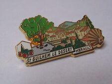 Pin's St Guilhem Le Desert Hérault plus beaux villages France PBVF LB Création