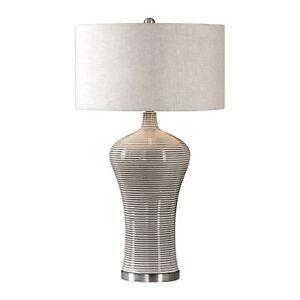 Uttermost 27570-1 Dubrava Light Gray Table Lamp