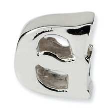 Initial Letter G Bead .925 Sterling Silver Reflection Beads
