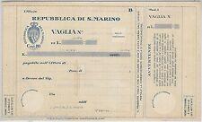 55403 - SAN MARINO -  CARTOLINA VAGLIA Postale: 10 Centesimi   - V 17