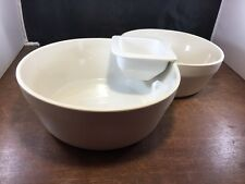 Double Taupe Studio Nova Chip and Dip Dish Kt031 Truck Modern 3 Piece C6