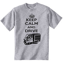 APE PIAGGIO 50 KEEP CALM AND DRIVE P - COTTON GREY TSHIRT - ALL SIZES IN STOCK