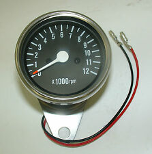 MOTORCYCLE CUSTOM CHROME TACHOMETER / REV COUNTER FOR YAMAHA BIKES 1:4 RATIO