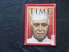 1956 JULY 30 TIME MAGAZINE - INDIA'S JAWAHARLAL HEHRU - T 1548