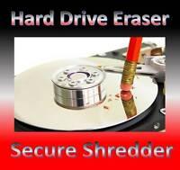 Erase wipe format delete hard drive Eraser CD PC & laptop computer Any Windows.