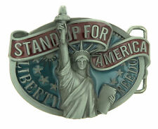 Statue of Liberty Stand Up For American Metal Belt Buckle
