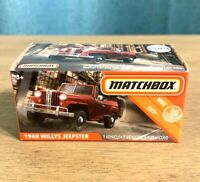 NEW 2020 Matchbox POWER GRABS 1948 Willys Jeepster RED #38
