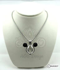 """Pearl Cage Pick A Pearl or Wish Pearl Epcot Mickey Mouse Mickey Head 18"""" Chain"""