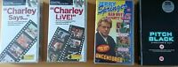 4 x VHS VIDEOS Bundle of Charley Says ,Charley Live ,Pitch Black ,Jerry Springer