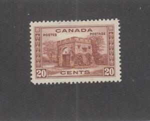 CANADA (MK1408) # 243  VF-MH  20cts 1938 FORT GARRY GATE / RED-BRN CAT VALUE $25