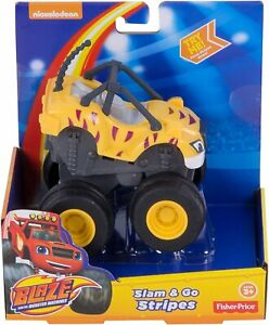 Blaze and the Monster Machines SLAM & GO STRIPES TIGER TRUCK Rev and Race VHTF