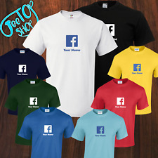 New Adult Personalised Facebook, Social Media tshirts 8 colors and 8 sizes