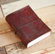 Diary Large Thick Leather Recycled Paper Celtic Cross Embossed Notebook Journal
