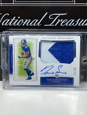 2019 NATIONAL TREASURES DARIUS SLAYTON ROOKIE PATCH AUTOGRAPH /99 NY GIANTS RPA