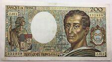 Billet 200 francs Montesquieu 1982 J.011