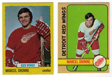 MARCEL DIONNE DETROIT RED WINGS 2 HOCKEY CARDS 1972-4