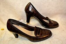 "Chadwicks Alligator Skin 3"" High Heels Pumps Dress Shoes Women`s 6 1/2 M"