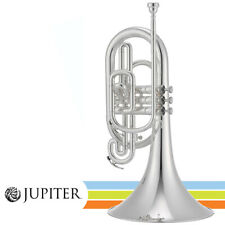 NEW Jupiter JMP1000MS Key of F Silver Plated Marching Mellophone with Hard Case