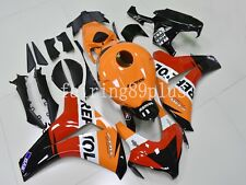 Orange Red Black REPSOL ABS Injection Fairing Kit Fit for CBR1000RR 2008-2011