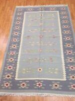 4' x 6' New Chinese Kilim (Kelim) Two-Sided Oriental Rug - Hand Made - 100% Wool