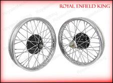 Vintage Front Rear Half Width Hub Wheel Rim Assembly For Royal Enfield Bikes BSA