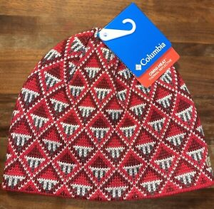 NEW Columbia Omni-Heat Red Knit Alpine Action Beanie NWT