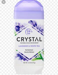 Crystal Natural Deodorant Stick Lavender & White Tea 2.5 Oz X2