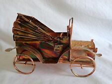 Berkeley Designs Music Box Copper OLD JALOPY CONVERTIBLE CAR Plays HAPPY DAYS