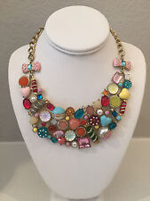NWT Rare Betsey Johnson Candyland Candy Bib Necklace Multi color statement piece