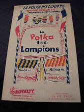 Partition La Polka des Lampions Marcel Achard Gérard Calvi 1961 Music Sheet