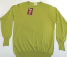 "William Lockie Crew neck 2 ply cashmere sweater jumper pullover top 38"" green"