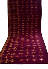 7.16 Yd Vintage Kutch Embroidered Cotton Fabric Indian Craft Dressmaking Fabric