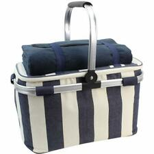 Picnic Basket Insulated Cooler Bag and Waterproof Picnic Blanket Beach GIFT Xmas